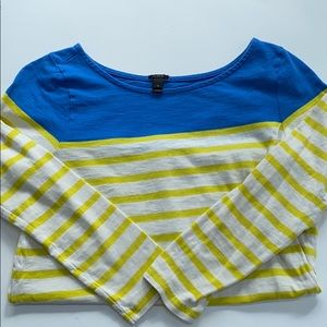 J crew striped 3/4 sleeve t shirt small